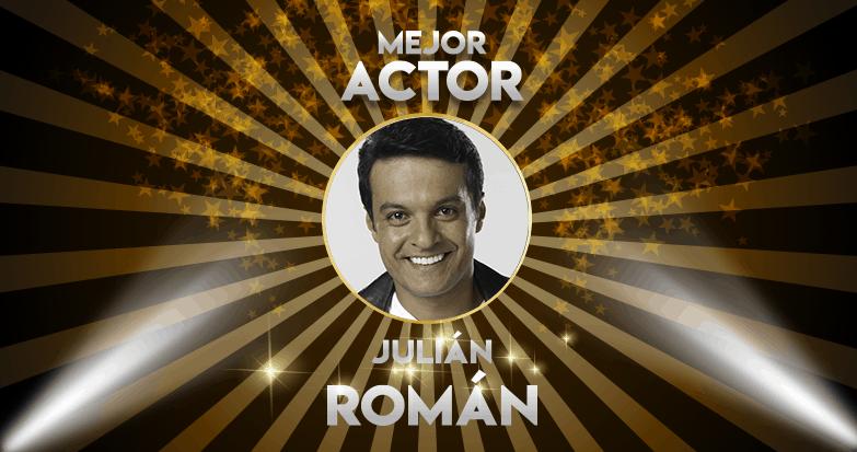 Julián Román, el mejor actor del año